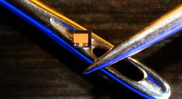 tunable diode laser chip compared to eye of needle