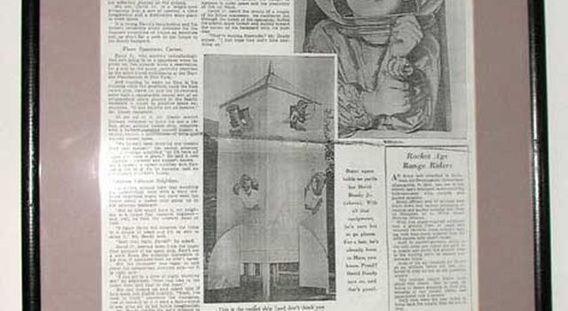 newspaper from 1953 featuring a young Doody and his plywood 'rocket'