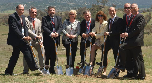 NASA officials break ground on new antennas at the Canberra Deep Space Communication Complex in Australia