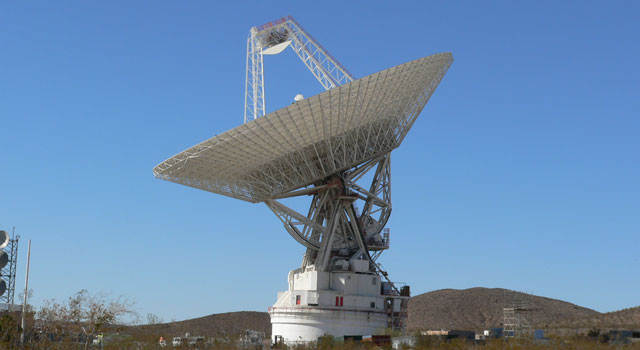 70-meter antenna at the Goldstone Deep Space Communications Complex