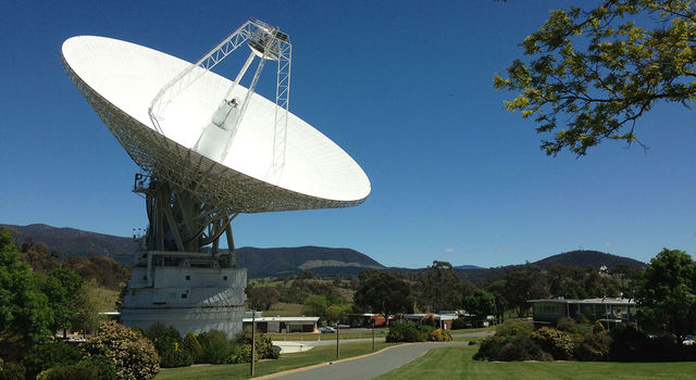 DSS43 is a 70-meter-wide (230-feet-wide) radio antenna at the Deep Space Network's Canberra facility in Australia