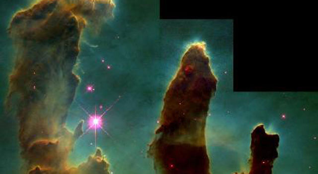 Pillars of Creation in the Eagle Nebula