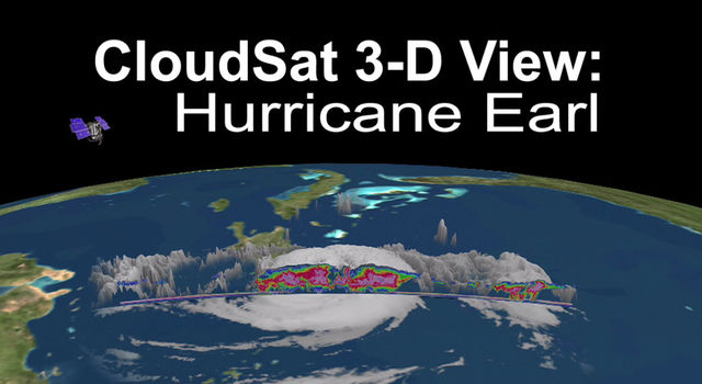 CloudSat 3-D View: Hurricane Earl