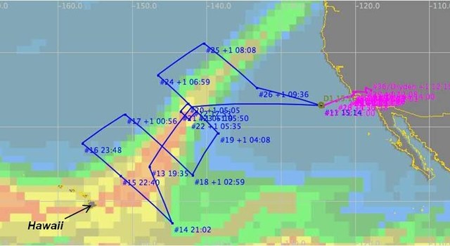Overview of flight path for the first WISPAR science flight on Feb. 11, 2011.