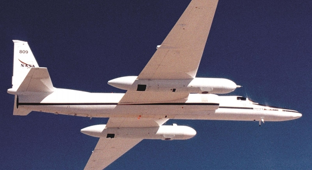 NASA's high-altitude ER-2 aircraft, carrying a suite of specialized science instruments