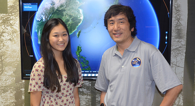 Alice Zhai and Jonathan Jiang. Image credit: NASA