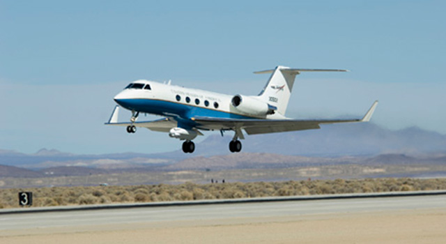 NASA's C-20A Earth science research aircraft with the UAVSAR