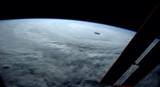 NASA astronaut Reid Wiseman captured this view of Typhoon Vongfong from space while he orbited the Earth