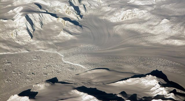 Glaciers seen during NASA's Operation IceBridge research flight to West Antarctica on Oct. 29, 2014.