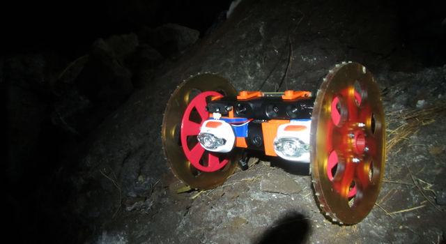 VolcanoBot 1 in Lava Tube