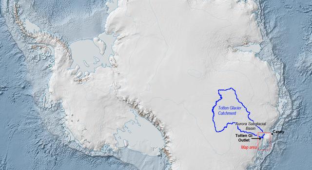 Totten Glacier Location
