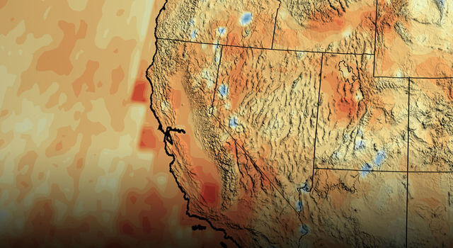 California's accumulated precipitation