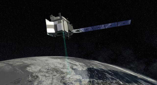 Artist's concept of ICESat-2. Credit: NASA's Goddard Space Flight Center