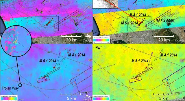 UAVSAR observations spanning the La Habra earthquake.