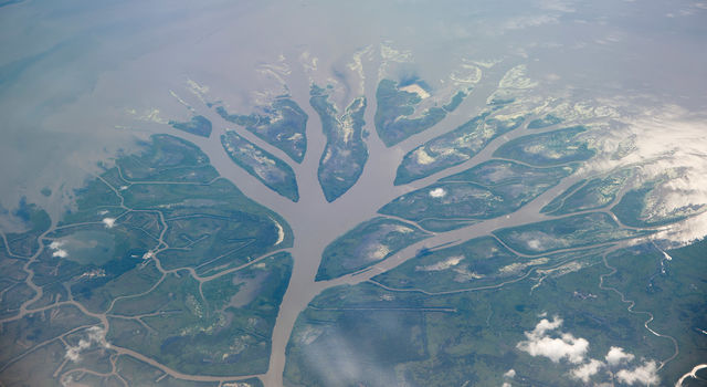 Wax Lake Delta in Louisiana