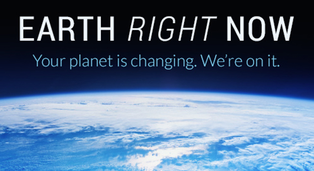 Earth Right Now website