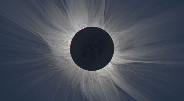 A total solar eclipse