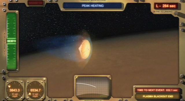 simulation of Phoenix landing