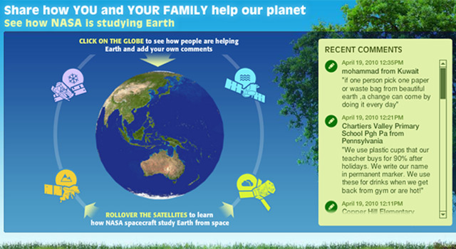 Celebrate Earth Day With NASA interactive