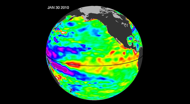 Satellite image of El Niño