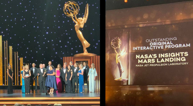 Team members at the 2019 Creative Arts Emmy Awards