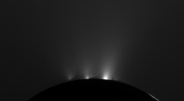 Cassini Catches Enceladus in Action