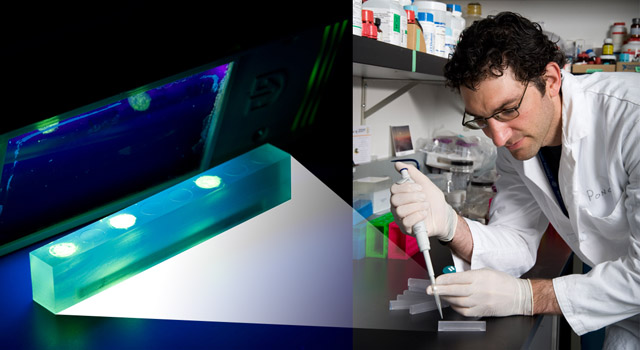JPL Chemist Adrian Ponce prepares samples