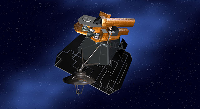 Artist's concept of NASA's Deep Impact spacecraft. Image Credit:  NASA/JPL-Caltech.