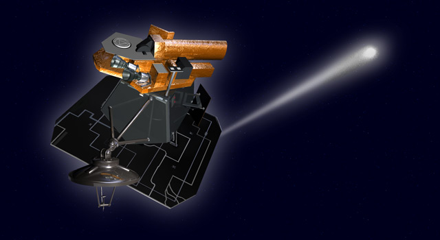 Artist's concept of EPOXI headed toward comet Hartley 2