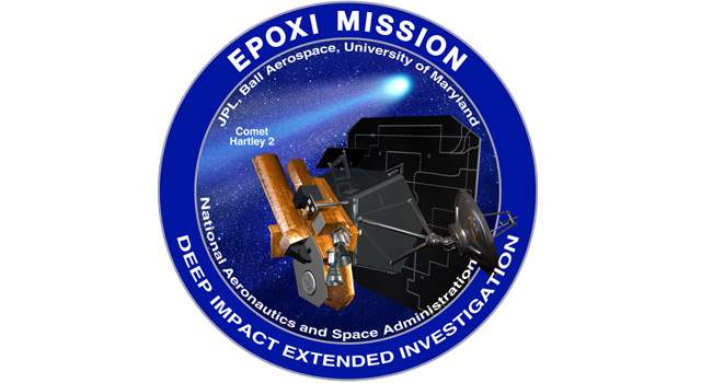 Logo of NASA's EPOXI mission, which is just one month away from its encounter with comet Hartley 2.