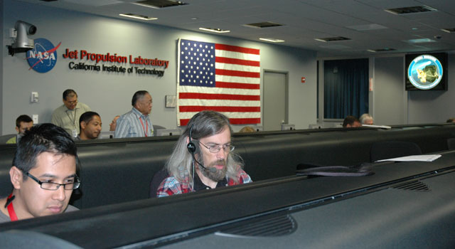 Epoxi team members in mission control