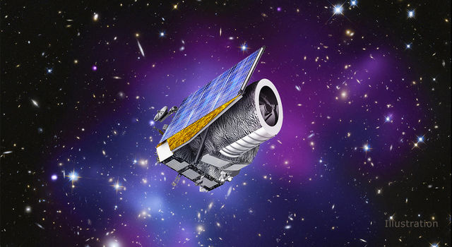 Artist's concept shows ESA's Euclid spacecraft