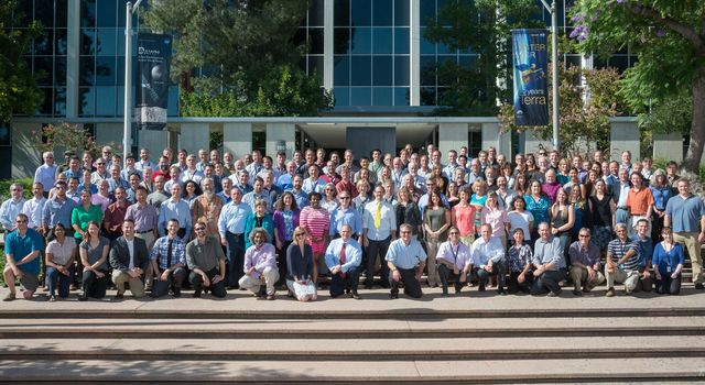 The team behind NASA's mission to Europa at their first face-to-face meeting at JPL in August 2015.