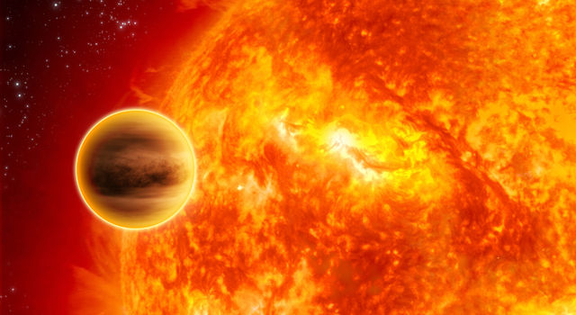 This giant planet is about half the size of Jupiter and orbits its star in about four days.