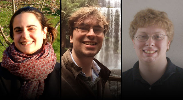 The 2017 Sagan Fellows Raphaelle Haywood, Benjamin Pope, and Andrew Vanderburg
