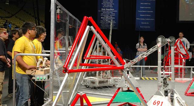 students control robots