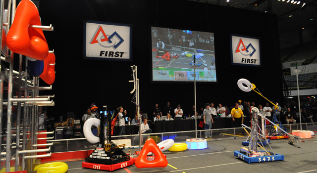 First Robotics competiton at the Long Beach convention center in 2011