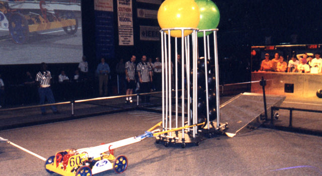 Student-built robots, 2001 Regional Conference in L.A.