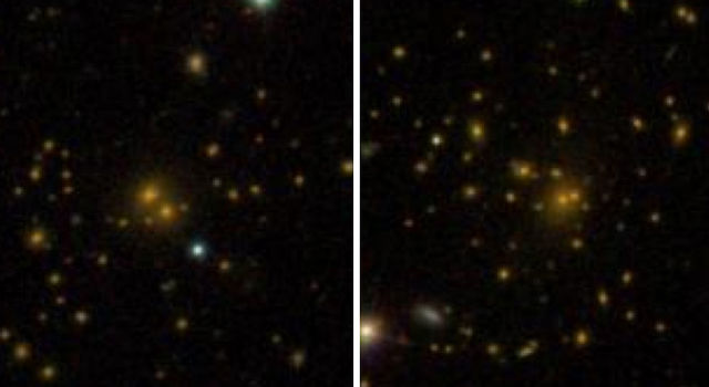 This comparison of galaxy clusters from the Sloan Digital Sky Survey DR8 galaxy