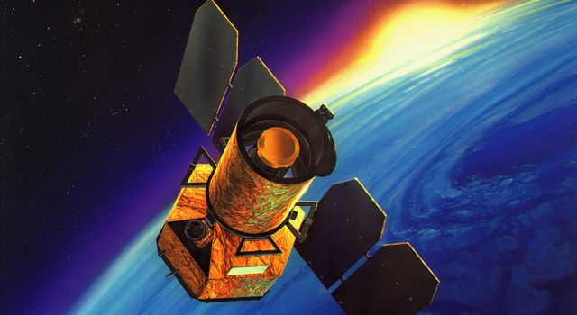 Artist's concept of Galaxy Evolution Explorer
