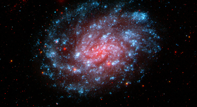 This image from NASA's Galaxy Evolution Explorer shows the galaxy NGC 300.