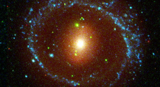 This image from NASA's Galaxy Evolution Explorer shows the galaxy NGC 1291.