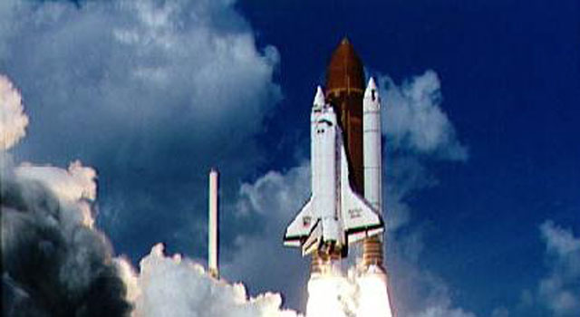Launch of Galileo on STS-34 Atlantis