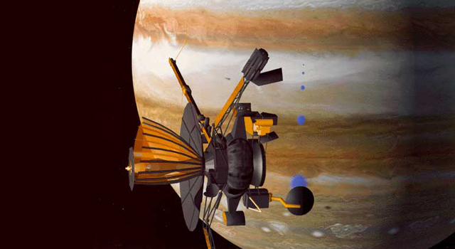 Illustration of Galileo at Jupiter