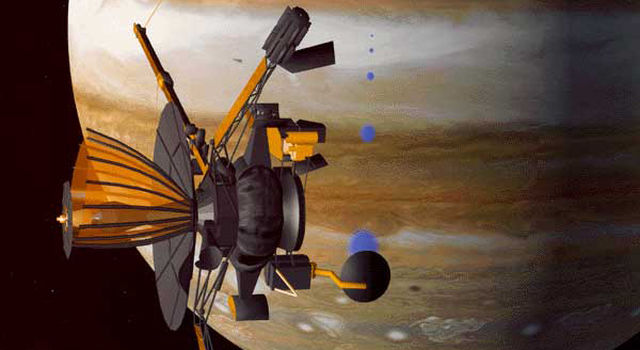 artist's concept of Galileo at Jupiter