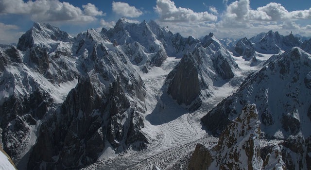 Glaciers in the Karakoram Range of Pakistan