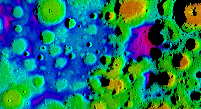 Topographic image of the moon.