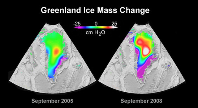 NASA's Grace See Rapid Spread in Greenland Ice Loss