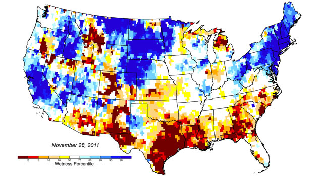 New groundwater and soil moisture drought indicator maps produced by NASA
