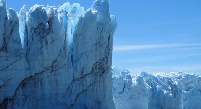 Calving front of the Perito Moreno Glacier (Argentina).